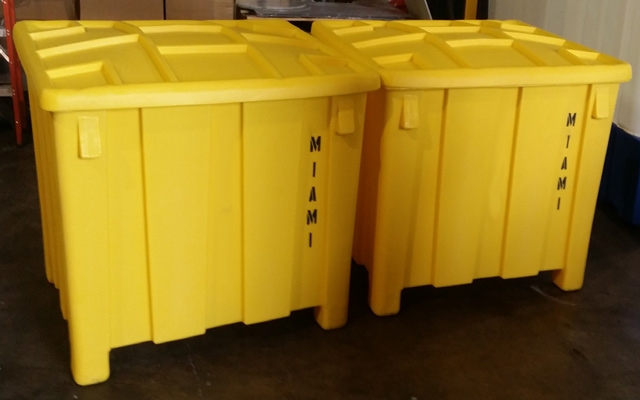 Custom Stenciled Bulk Storage Container