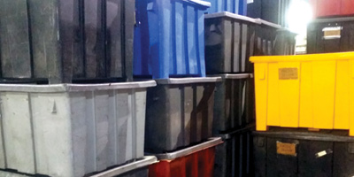 Bulk Storage Containers Stacked